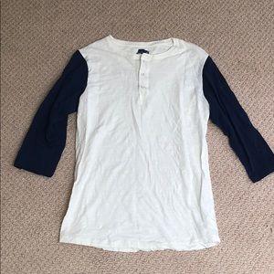 Cotton on baseball T-shirt 3/4 sleeve